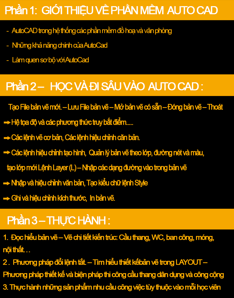 Khóa học autocad tại Hà Nội
